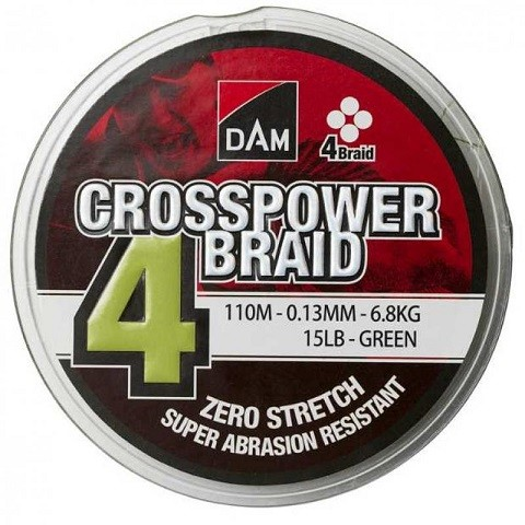 DAM Crosspower 4-Braid 150m 0,13 mm. struna 4 niti