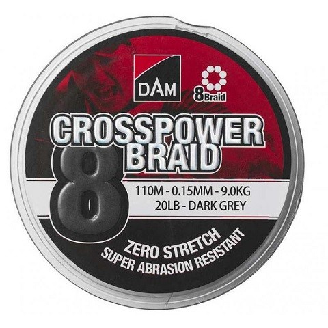 DAM Crosspower 8-Braid 150m. 0,15 mm. struna 8 niti