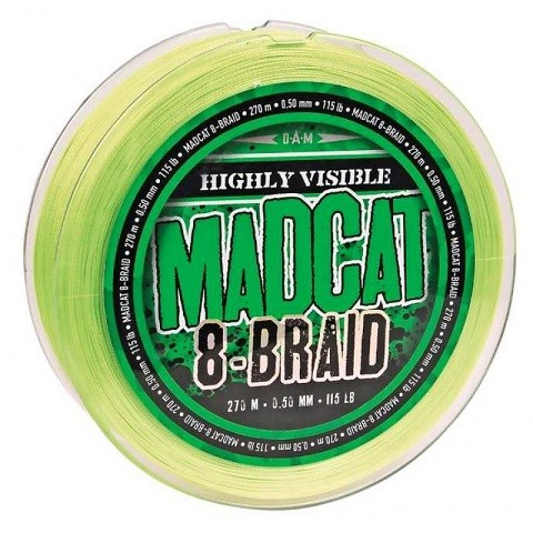 DAM Madcat 8-Braid 270m 0,60 mm. struna 8 niti