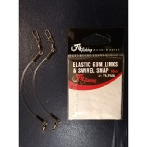 Elastic gum links & swivel snap feeder ribolov