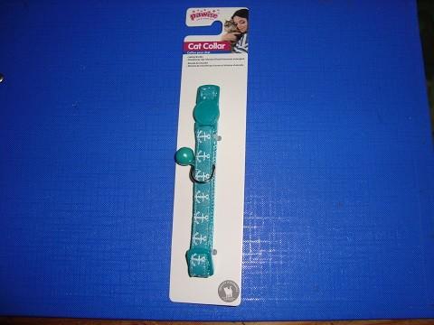 Ogrlica za mace zelena sa sidrima 10 mm/20-30 cm.