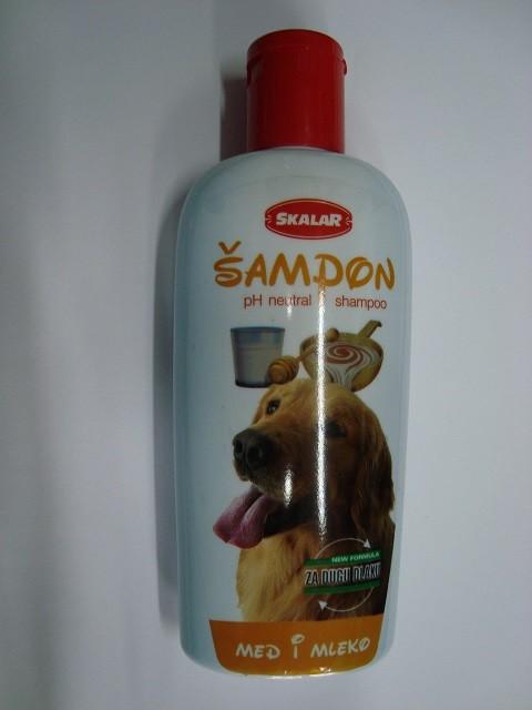 Šampon za dugu dlaku-200 ml. (med i mleko)
