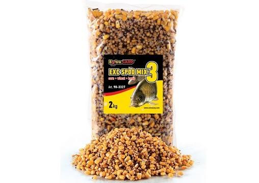 Spod mix 3x Extra Carp-kukuruz,pšenica,konoplja