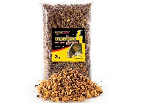 Spod mix 4x Extra Carp-kukuruz,pšenica,konoplj,tigrov orah
