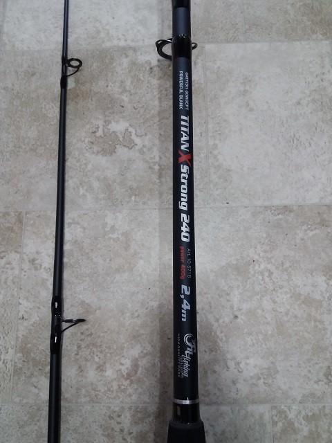 Štap za lov soma-Titan X Strong 2,4 m-400 grama