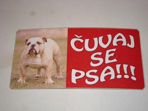 Tabla Čuvaj se psa-BULDOG