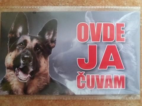 Tabla Čuvaj se psa NEMAČKI OVČAR-2