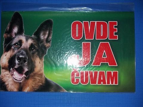 Tabla Čuvaj se psa NEMAČKI OVČAR