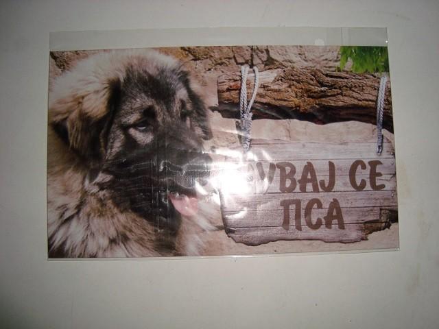 Tabla Čuvaj se psa-ŠARPLANINAC 1