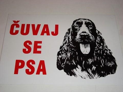 Tabla-Čuvaj se psa KOKER ŠPANIJEL