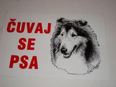 Tabla-Čuvaj se psa ŠKOTSKI OVČAR